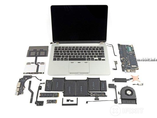 Новые ноутбуки MacBook Pro разобраны в лаборатории iFixit
