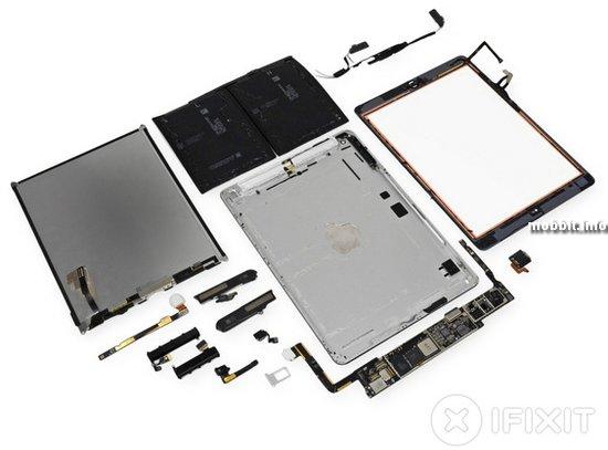 Новый планшет Apple iPad Air разобран специалистами iFixit