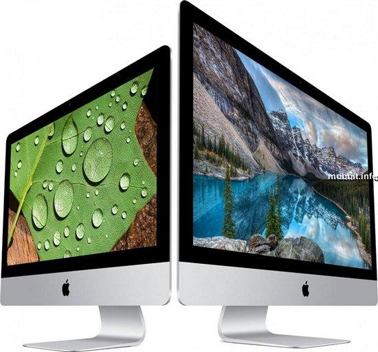 Новые моноблоки Apple iMac