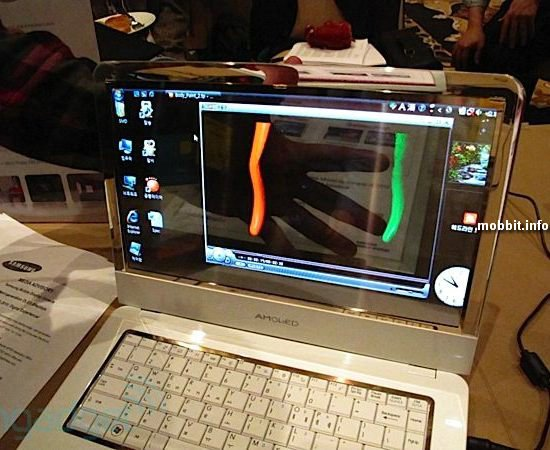 Ноутбук Samsung с прозрачным OLED-дисплеем