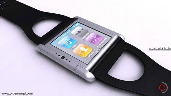 Концептуальные наручные часы iPhone nano