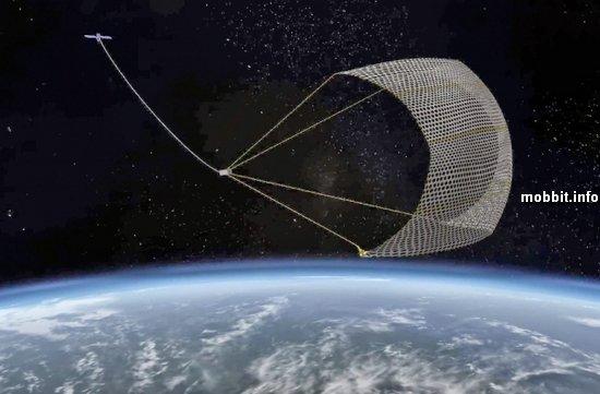 Создана магнитная сеть для ловли космического мусора