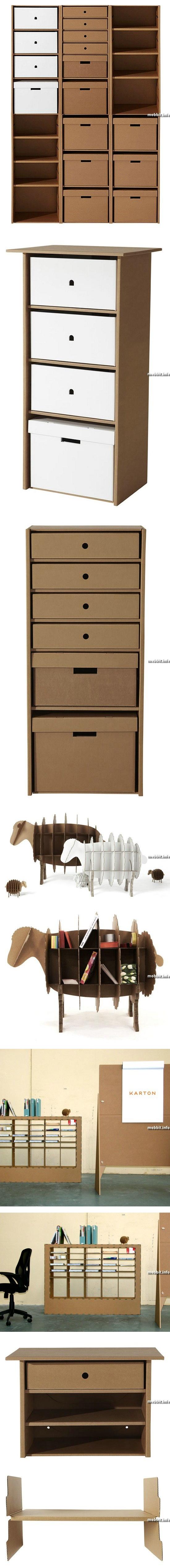 Картонная мебель для дома