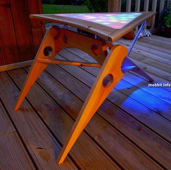 Журнальный LED-столик из «Звездного пути»