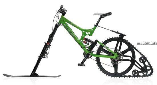 Снегоход велосипед своими руками