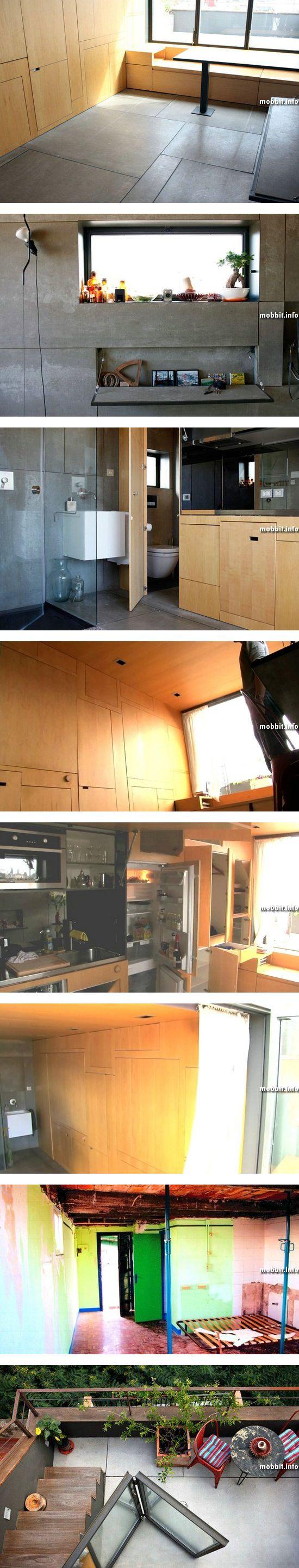 Уникальная крошечная квартира-трансформер