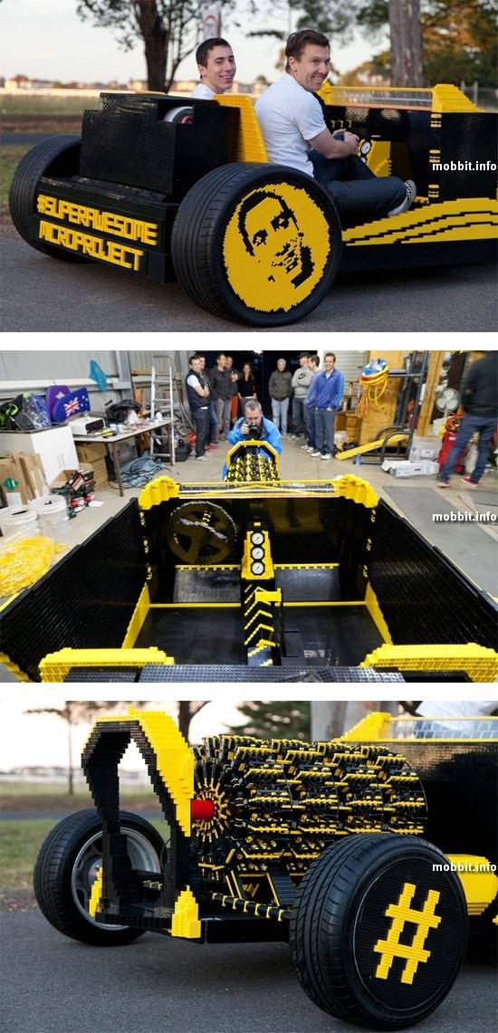 Полноразмерный и полнофункциональный автомобиль из Lego
