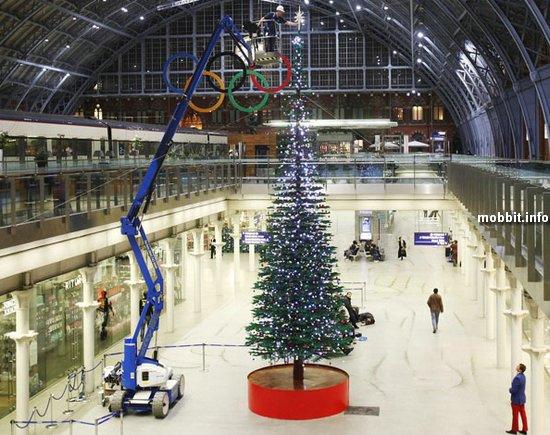Огромная новогодняя елка из Lego
