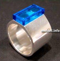 кольца с детальками Lego