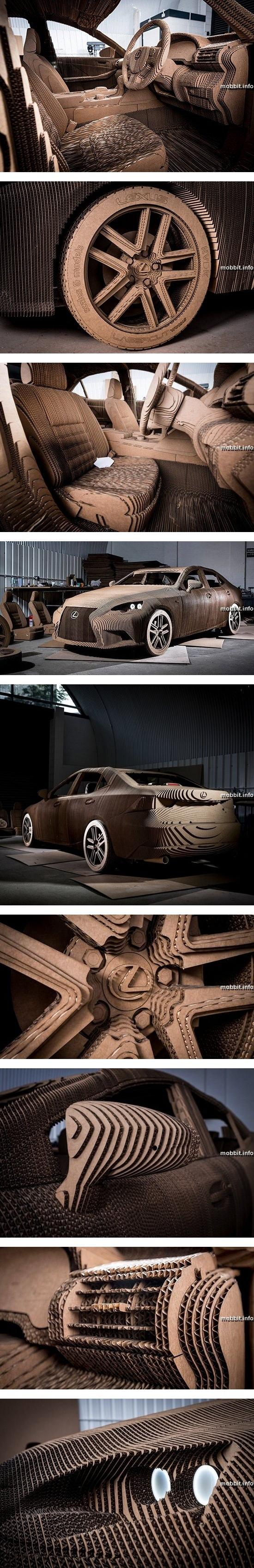 Картонный автомобиль Lexus
