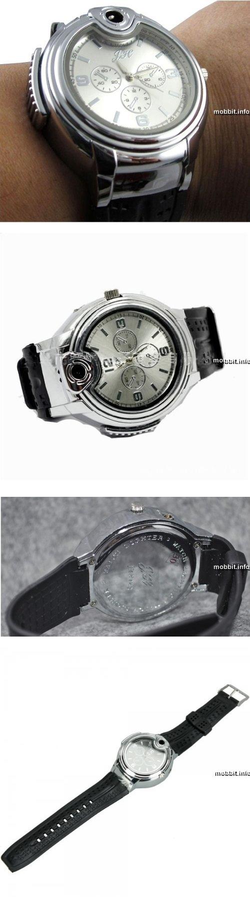 Наручные часы и зажигалка в одном