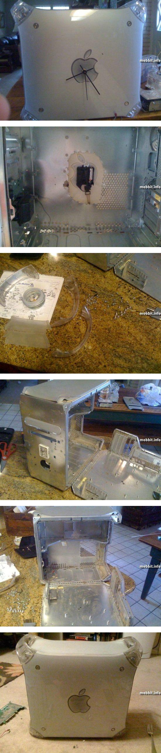 Настенные часы из старого Power Mac G4