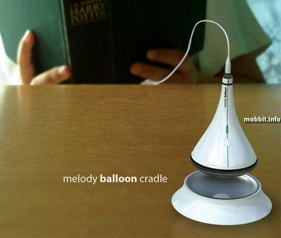 MP3-плеер, парящий в воздухе