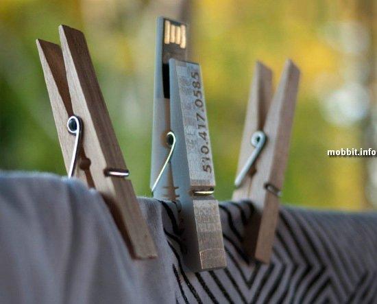 Прищепка и USB-флэшка в одном