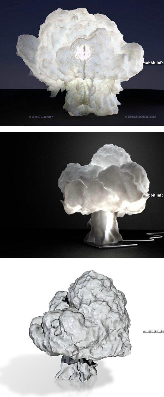Дизайнерская лампа в виде ядерного гриба