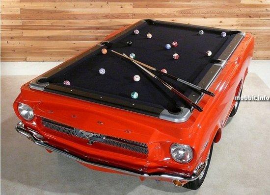 Уникальные бильярдные столы из ретро-автомобилей