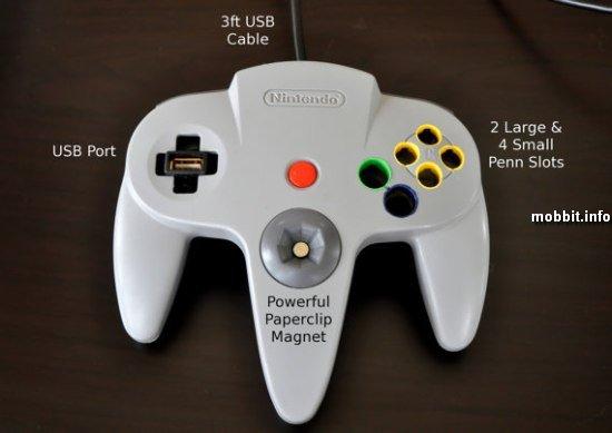 органайзер из старых контроллеров Nintendo