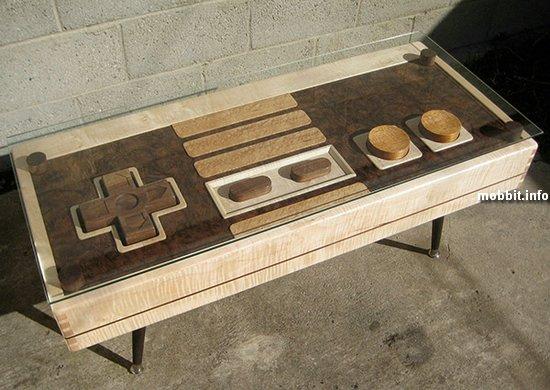 Журнальный столик в виде действующей консоли NES
