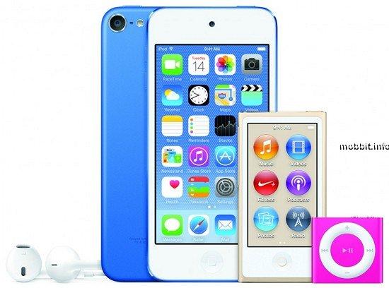 Новые плееры Apple iPod