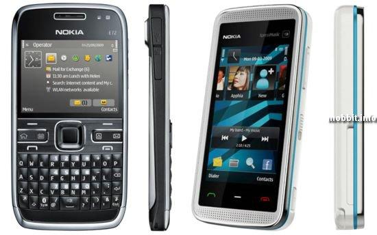 Nokia E72 и Nokia 5530 XpressMusic