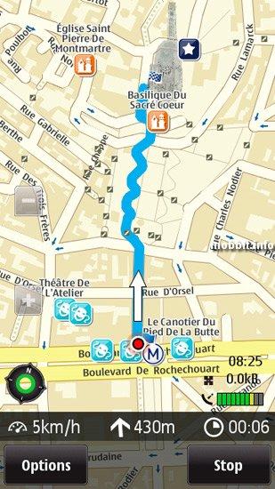 Бесплатный Ovi Maps