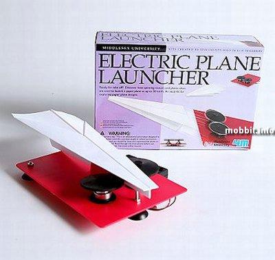 установка для запуска бумажных самолетиков