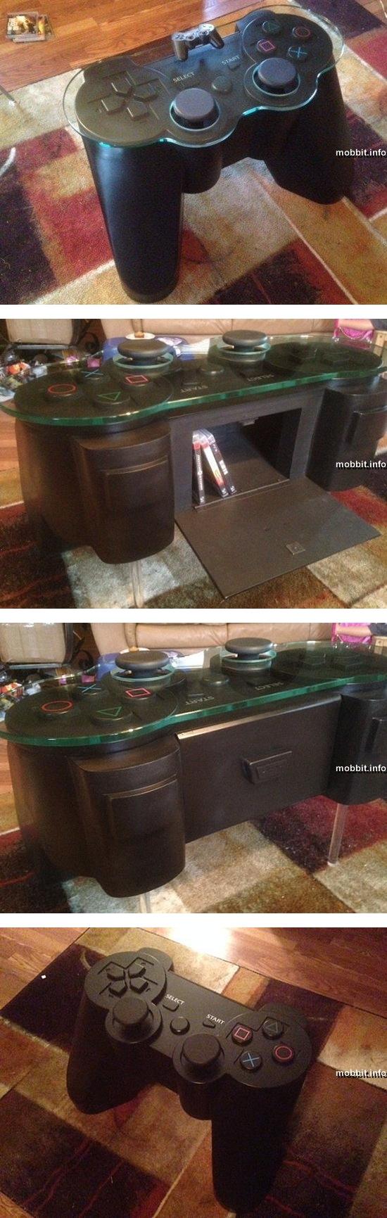 Журнальный столик в виде контроллера PlayStation