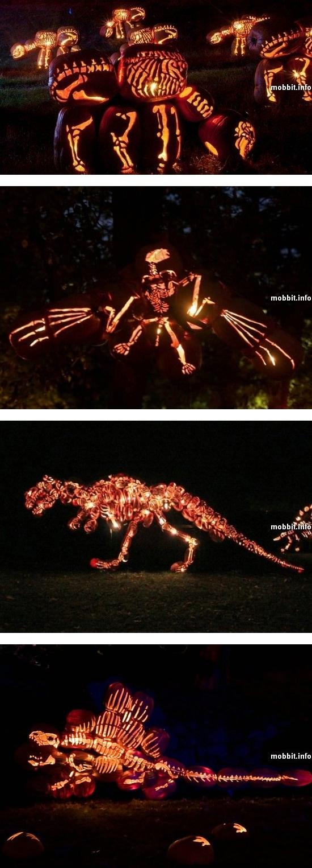 Полноразмерные динозавры из… тыкв!