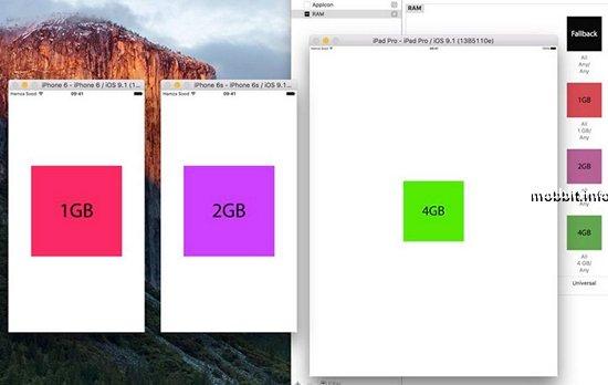 Сколько оперативной памяти у iPhone 6S, iPhone 6S Plus и iPad Pro?