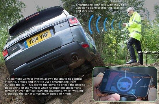 Система управления автомобилем со смартфона от Jaguar Land Rover