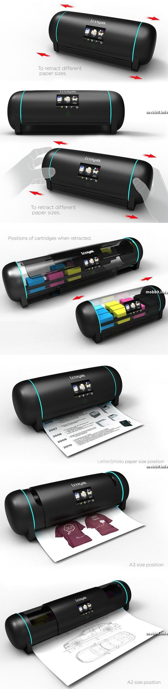 Retractable Printer