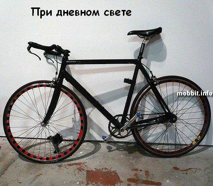 светящийся в темноте велосипед