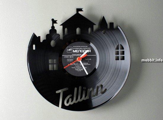 Часы из грампластинок