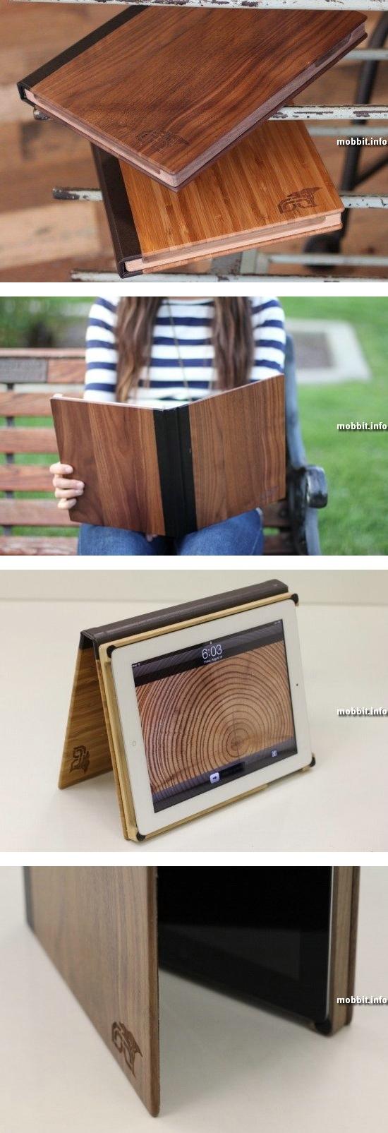 Элегантные деревянные чехлы для iPad 2