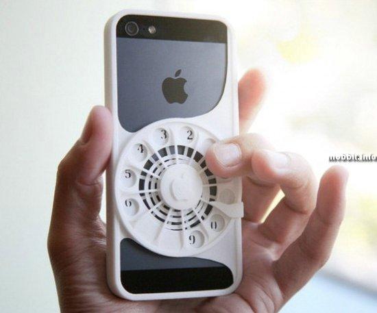Чехол для iPhone с дисковым номеронабирателем