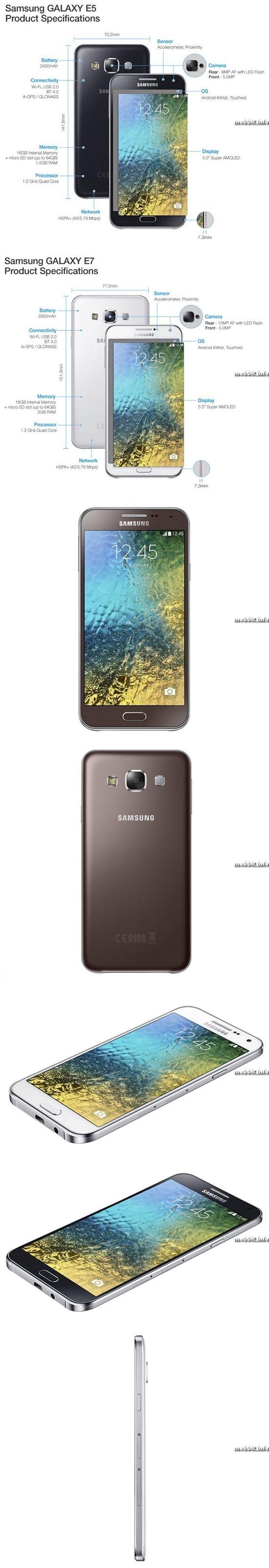 Samsung Galaxy E5 и E7