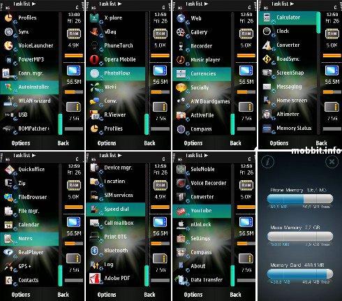 Многозадачность на Samsung i8910