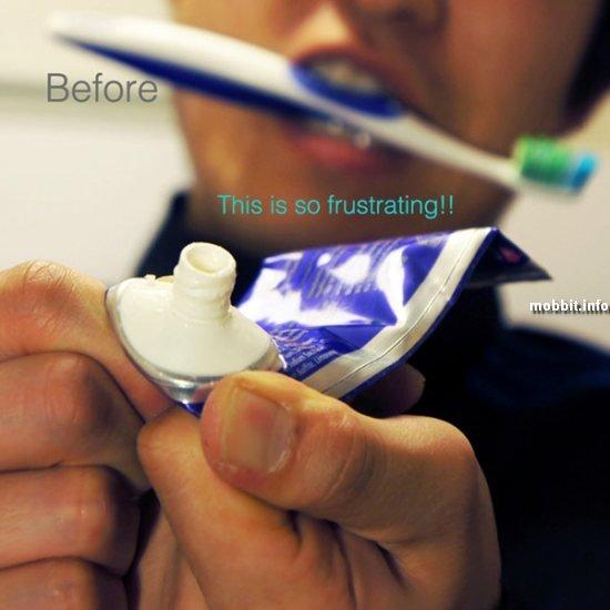 тюбик для зубной пасты