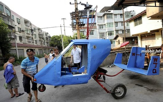 Самодельный вертолет из металлолома