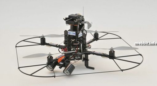 Летающий робот-охранник от Secom