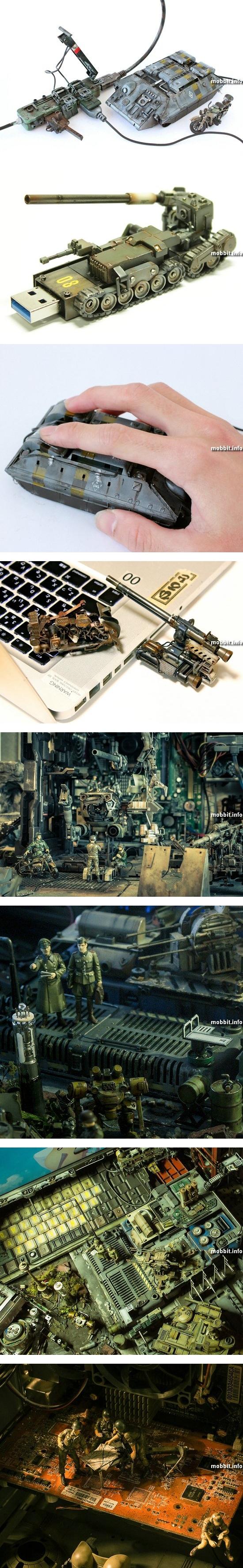 Моддинг: потрясающий компьютер в виде секретной военной базы