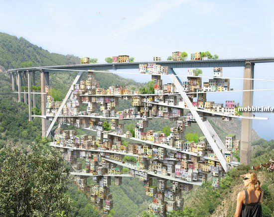 Мост, обросший... домами