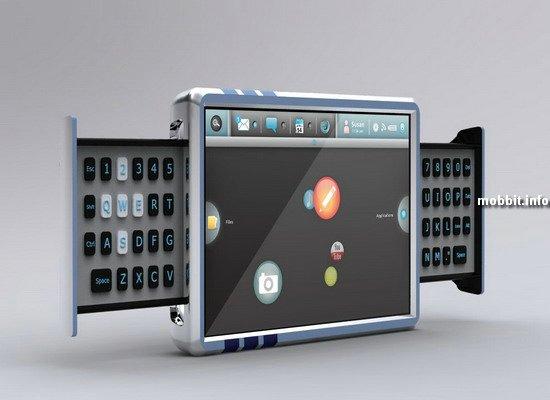 Смартбук с выдвигающейся QWERTY-клавиатурой