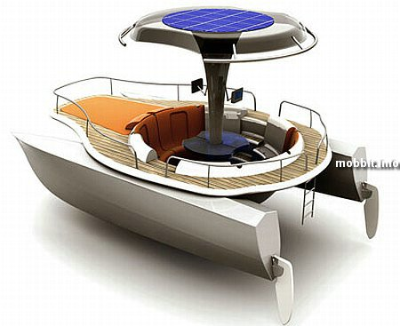 solar powered pedal boat