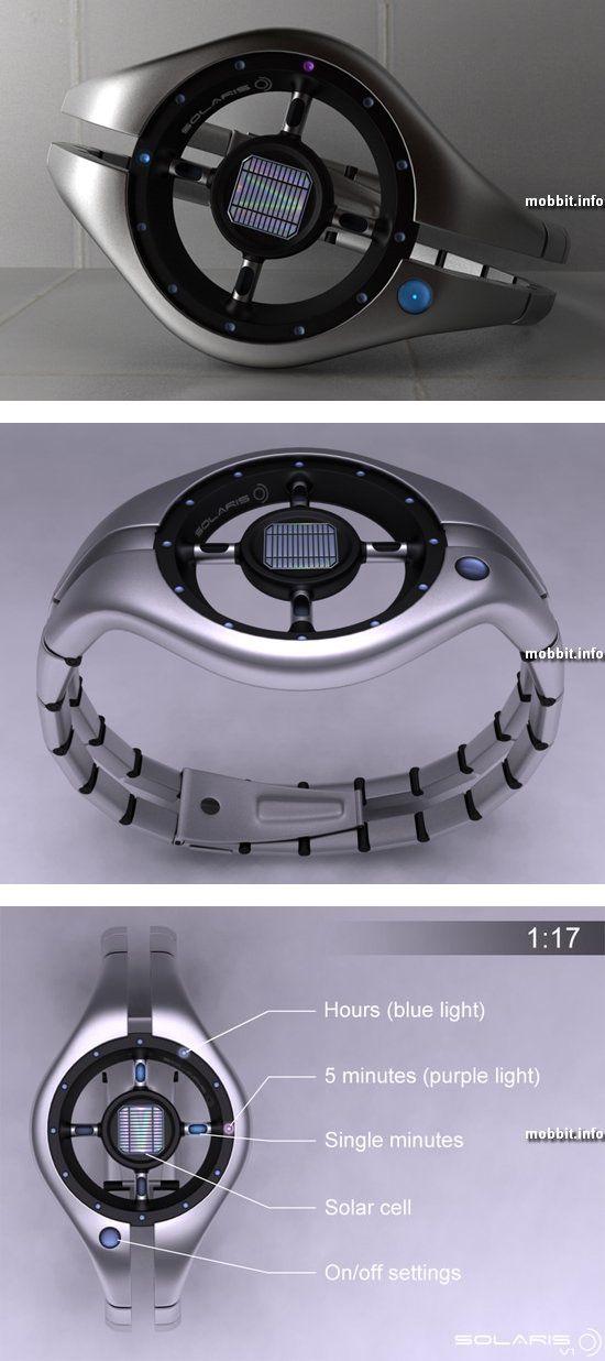 LED-часы на солнечных батареях