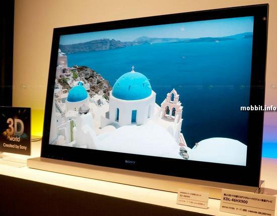 Новые 3D-телевизоры Sony
