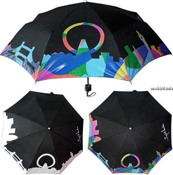 Зонт, меняющий цвет под дождем