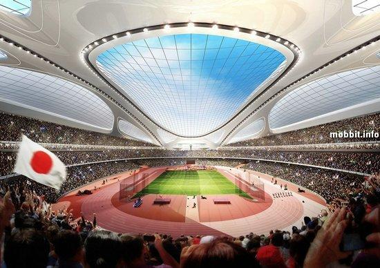 Футуристический Олимпийский стадион в Токио