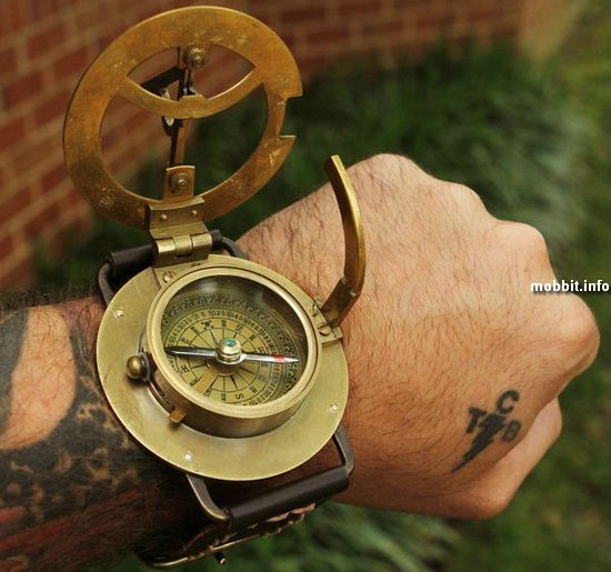 Navitron Steampunk Wrist Compass and Sundial