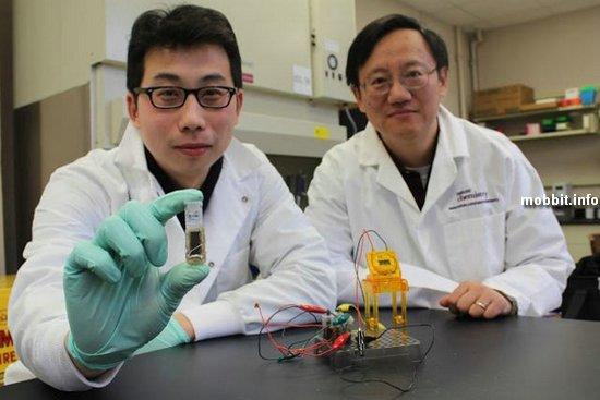 Батарейка из сахара для электроники